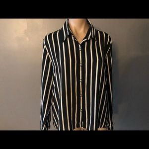 Forever 21 Button Down Striped Blouse